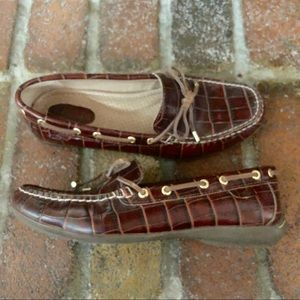 Sperry Top Sider Loafer Boat Shoes Croc Pattern